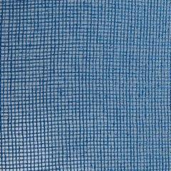 Firana o strukturze etaminy bardzo zwiewna 140 x 250 cm na przelotkach niebieska  - 140 X 250 cm - niebieski 4