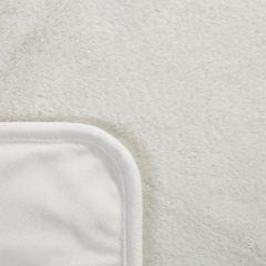 Narzuta koc jednokolorowy kremowy 170x200 cm - 170 x 200 cm - kremowy 6
