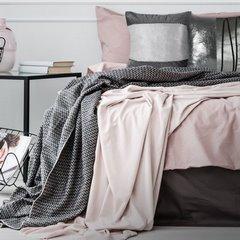 Poszewka na poduszkę dwukolorowa z kryształkami 45 x 45 cm srebrna - 45 X 45 cm - srebrny 2