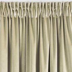 Zasłona z dwóch rodzajów tkaniny welwetowej 140 x 270 cm beżowa na taśmie  - 140x270 - beżowy 3