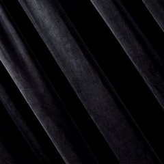 Zasłona z dwóch rodzajów tkaniny welwetowej 140 x 270 cm czarna na taśmie  - 140x270 - czarny 2