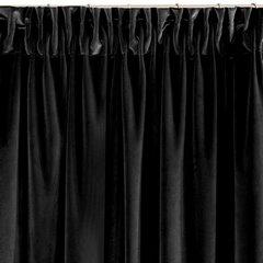 Zasłona z dwóch rodzajów tkaniny welwetowej 140 x 270 cm czarna na taśmie  - 140x270 - czarny 5