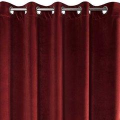 Zasłona Welwetowa Bordowa 140X250 Cm 10 Przelotek - 140x250 - czarny / kremowy / czerwony 3
