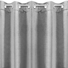 Zasłona welwetowa na 10 przelotkach stalowy - 140 X 250 cm - stalowy 2