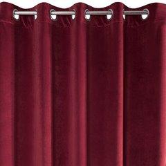 Zasłona welwetowa bordowa 140x250 cm - 10 przelotek - 140 X 250 cm - bordowy 6