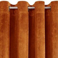 Zasłona welwetowa na 10 przelotkach rudy - 140 X 250 cm - rudy 6