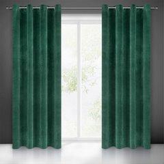 Zasłona welwetowa zielona 140x250 10 przelotek - 140x250 - zielony 1