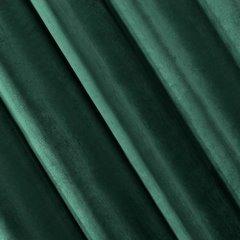 Zasłona welwetowa zielona 140x250 - 10 przelotek - 140 X 250 cm - ciemnozielony 1