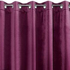 Zasłona welwetowa na 10 przelotkach fioletowa - 140 X 250 cm - fioletowy 6
