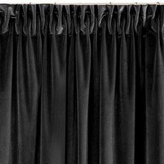 Zasłona welwetowa 140x270 cm na taśmie czarna - 140x270 - czarny 2