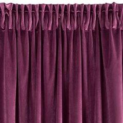 Zasłona welwetowa 140x270 cm na taśmie ciemnofioletowa - 140 X 270 cm - fioletowy 6