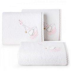 Ręcznik dziecięcy z trójwymiarową aplikacją ze słonikiem 50x90cm - 50 X 90 cm - biały 1