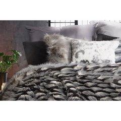 Poszewka na poduszkę łaciate futerko 45 x 45 cm  - 45x45 - kremowy / srebrny 2