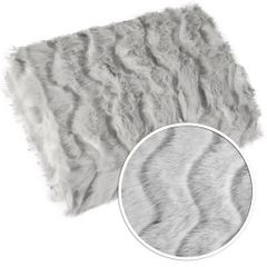 Narzuta na łóżko miękkie futerko 150x180 cm stalowa - 150 X 180 cm - stalowy 4