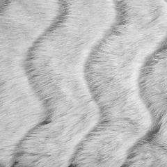 Narzuta na łóżko miękkie futerko 150x180 cm stalowa - 150 X 180 cm - stalowy 3