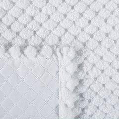 Narzuta na łóżko futerko 200x220 cm biała - 200 X 220 cm - biały 3