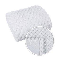 Narzuta na łóżko futerko 200x220 cm biała - 200 X 220 cm - biały 4