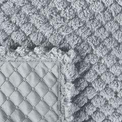 Narzuta na łóżko futerko 200x220 cm srebrna - 200 X 220 cm - miętowy 5