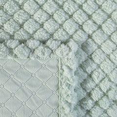 Narzuta na łóżko futerko 200x220 cm miętowa - 200 X 220 cm - miętowy 3