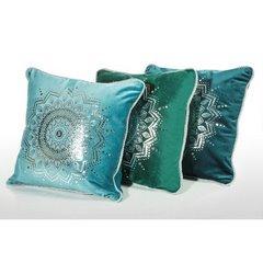 Poszewka dekoracyjna na poduszkę 45 x 45 kolor c.zielony - 45x45 - zielony 2