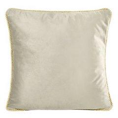Poszewka na poduszkę welwetowa z lamówką 45 x 45 cm beżowa - 45 X 45 cm - beżowy 1