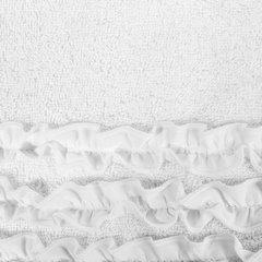 Ręcznik z bawełny z falbankami 50x90cm kremowy - 50 X 90 cm - kremowy 4