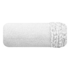Ręcznik z bawełny z falbankami 70x140cm kremowy - 70 X 140 cm - kremowy 2