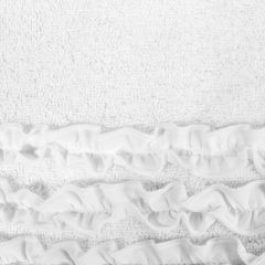 Ręcznik z bawełny z falbankami 70x140cm kremowy - 70 X 140 cm - kremowy 4