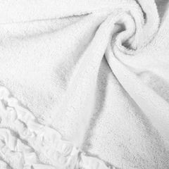 Ręcznik z bawełny z falbankami 70x140cm kremowy - 70 X 140 cm - kremowy 5