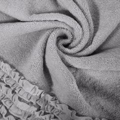 Ręcznik z bawełny z falbankami 70x140cm popielaty - 70 X 140 cm - srebrny 10
