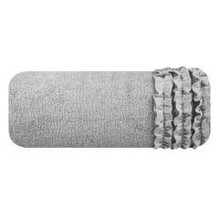Ręcznik z bawełny z falbankami 70x140cm popielaty - 70 X 140 cm - srebrny 2