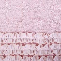Ręcznik z bawełny z falbankami 50x90cm ciemnoróżowy - 50 X 90 cm - różowy 4