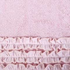 Ręcznik z bawełny z falbankami 70x140 ciemnoróżowy - 70 X 140 cm - różowy 7