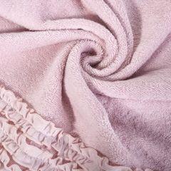 Ręcznik z bawełny z falbankami 70x140 ciemnoróżowy - 70 X 140 cm - różowy 9