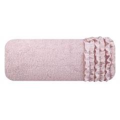 Ręcznik z bawełny z falbankami 70x140 ciemnoróżowy - 70 X 140 cm - różowy 2