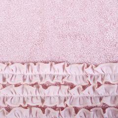 Ręcznik z bawełny z falbankami 70x140 ciemnoróżowy - 70 X 140 cm - różowy 4