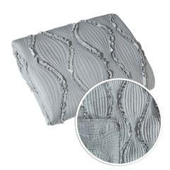 Narzuta przeszywana z falbankami popietata 170x210 cm - 170 X 210 cm - popielaty 7