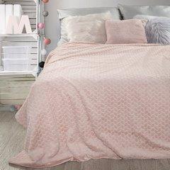 Poszewka dekoracyjna o strukturze futra różowa 45 x 45cm - 45 X 45 cm - jasnoróżowy 5