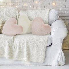 Poszewka na poduszkę w kształcie serca kremowa - 40 X 40 cm - kremowy 2