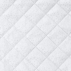 Narzuta na łóżko dwustronna welurowa 170x210 cm biało-srebrna - 170 X 210 cm - biały/srebrny 3