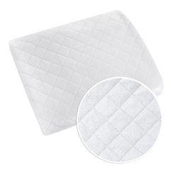 Narzuta na łóżko dwustronna welurowa 170x210 cm biało-srebrna - 170 X 210 cm - biały/srebrny 4