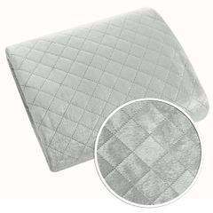 Narzuta na łóżko pikowana hotpress 170x210 cm srebrna - 170 X 210 cm - srebrny 4