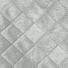 Narzuta na łóżko pikowana hotpress 170x210 cm srebrna - 170 X 210 cm - srebrny 3