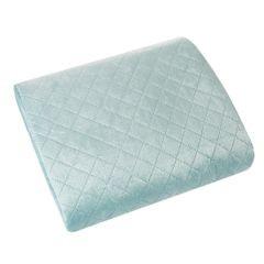 Narzuta na łóżko dwustronna pikowana hotpress 170x210 cm  - 170x210 - niebieski / srebrny  2