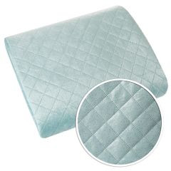 Narzuta na łóżko dwustronna pikowana hotpress 170x210 cm  - 170 X 210 cm - niebieski/srebrny 4