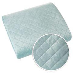 Narzuta na łóżko dwustronna pikowana hotpress 200x220 cm  - 200 X 220 cm - niebieski/srebrny 7