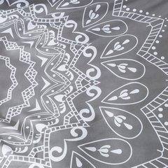 Komplet pościeli z MIKROFIBRY 160 x 200 cm, 2 szt. 70 x 80 cm, szara, biały wzór - 160x200+70x80/2 - srebrny 1