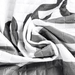 Narzuta na łóżko dwukolorowa z napisem 220x240 cm czarno-biała - 220x240 - biały / czarny 8
