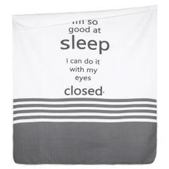Narzuta na łóżko dwukolorowa z napisem 220x240 cm czarno-biała - 220x240 - biały / czarny 5