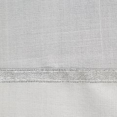 Elegancki obrus ze srebrną nicią 40x140 cm kremowy - 40 X 140 cm - naturalny 3